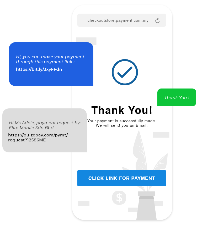 PAY BY LINK / SMS PERSONALIZED